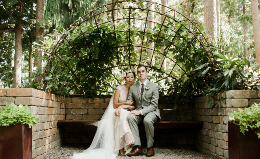 Elegant Garden Weddingchelsea Jonathanevergreen Gardens