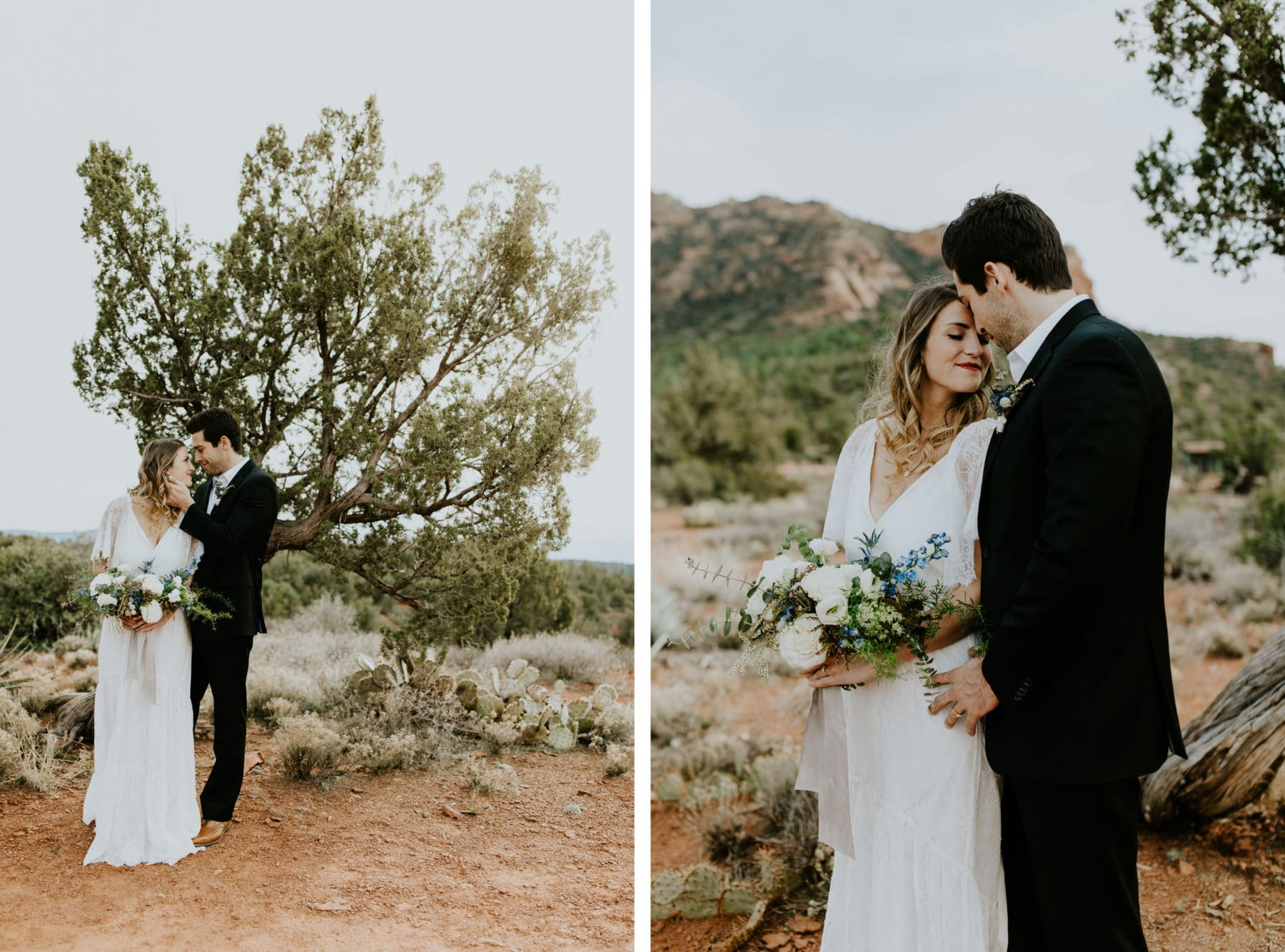bright airy sedona wedding