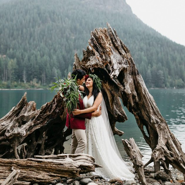 rattlesnake lake wedding elopement