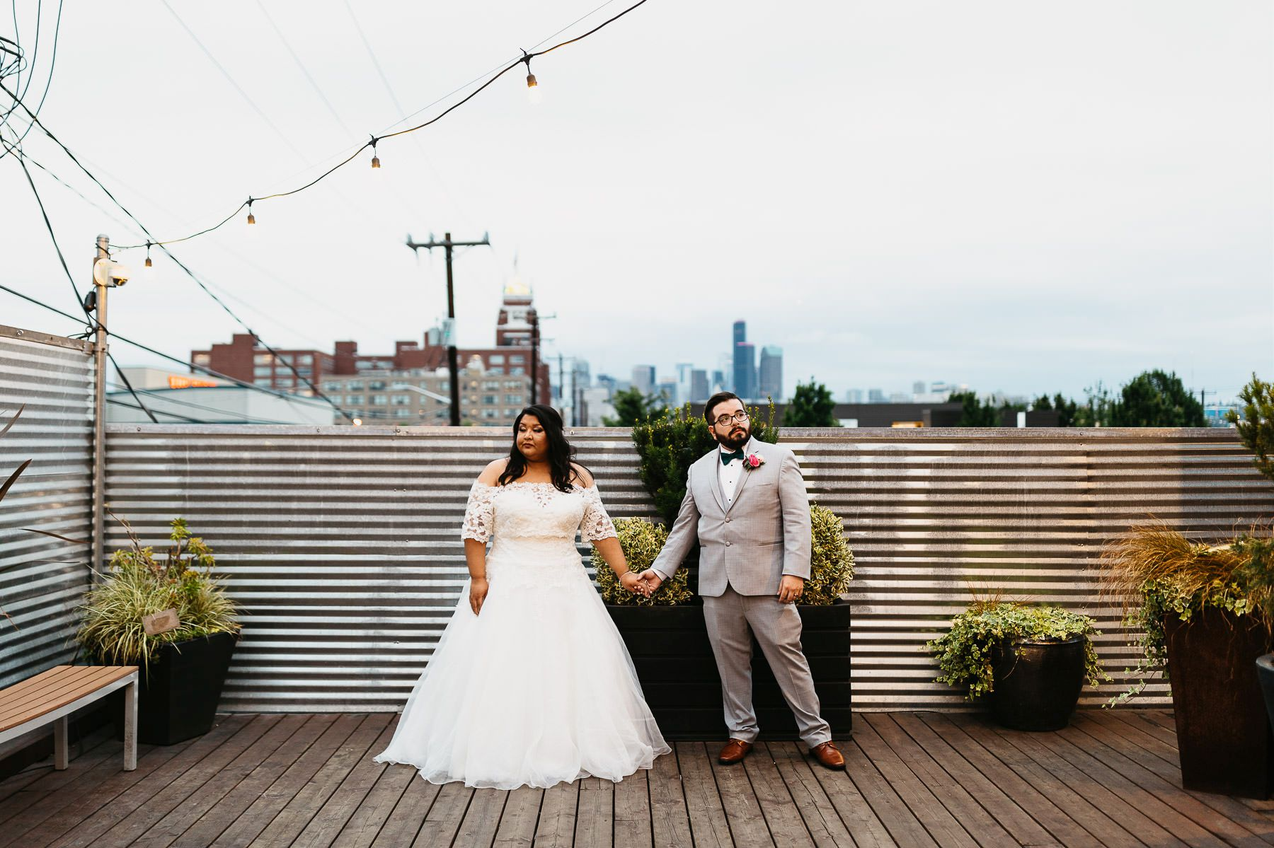 within sodo wedding rooftop deck