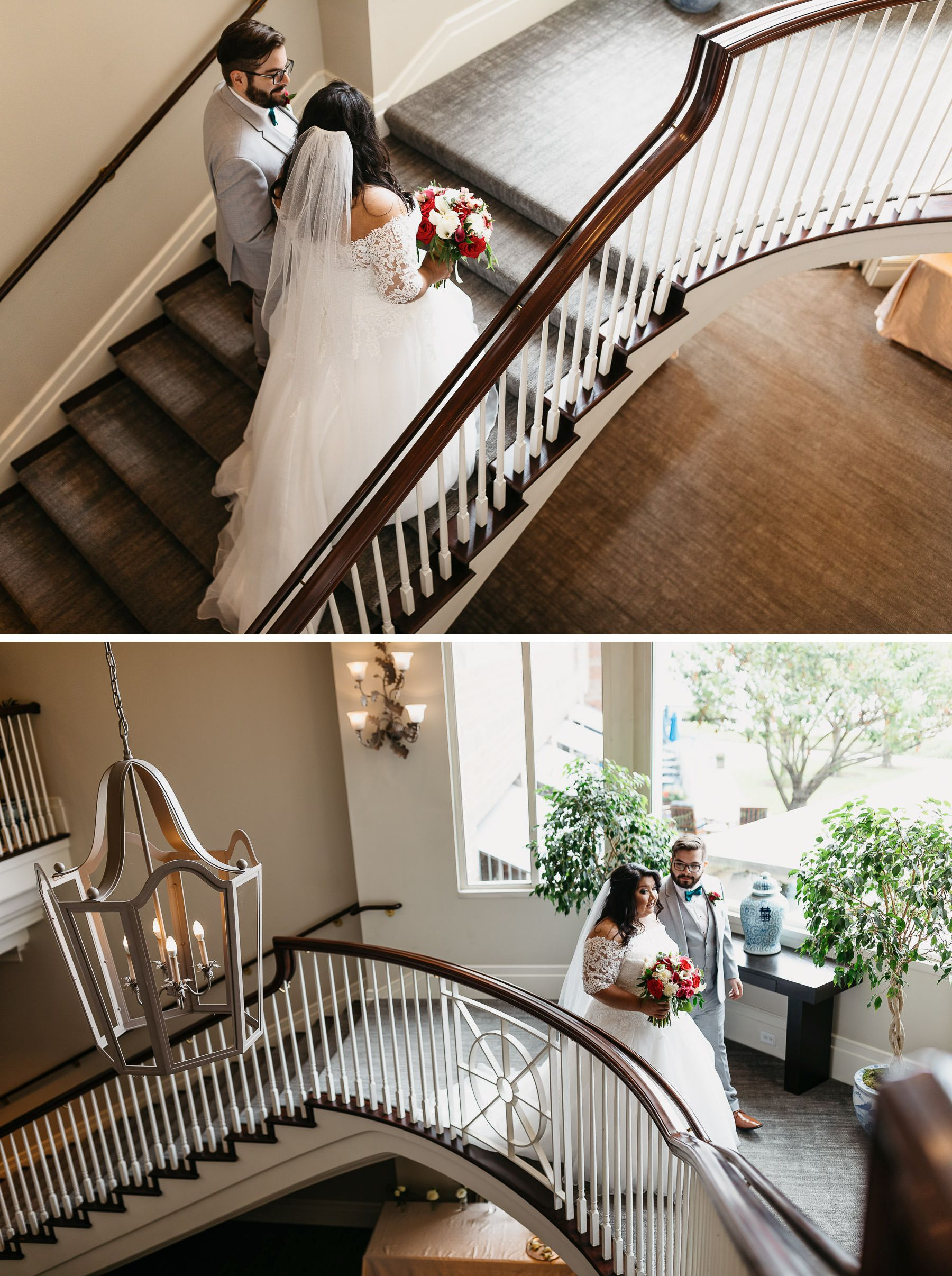 woodmark hotel wedding stairs