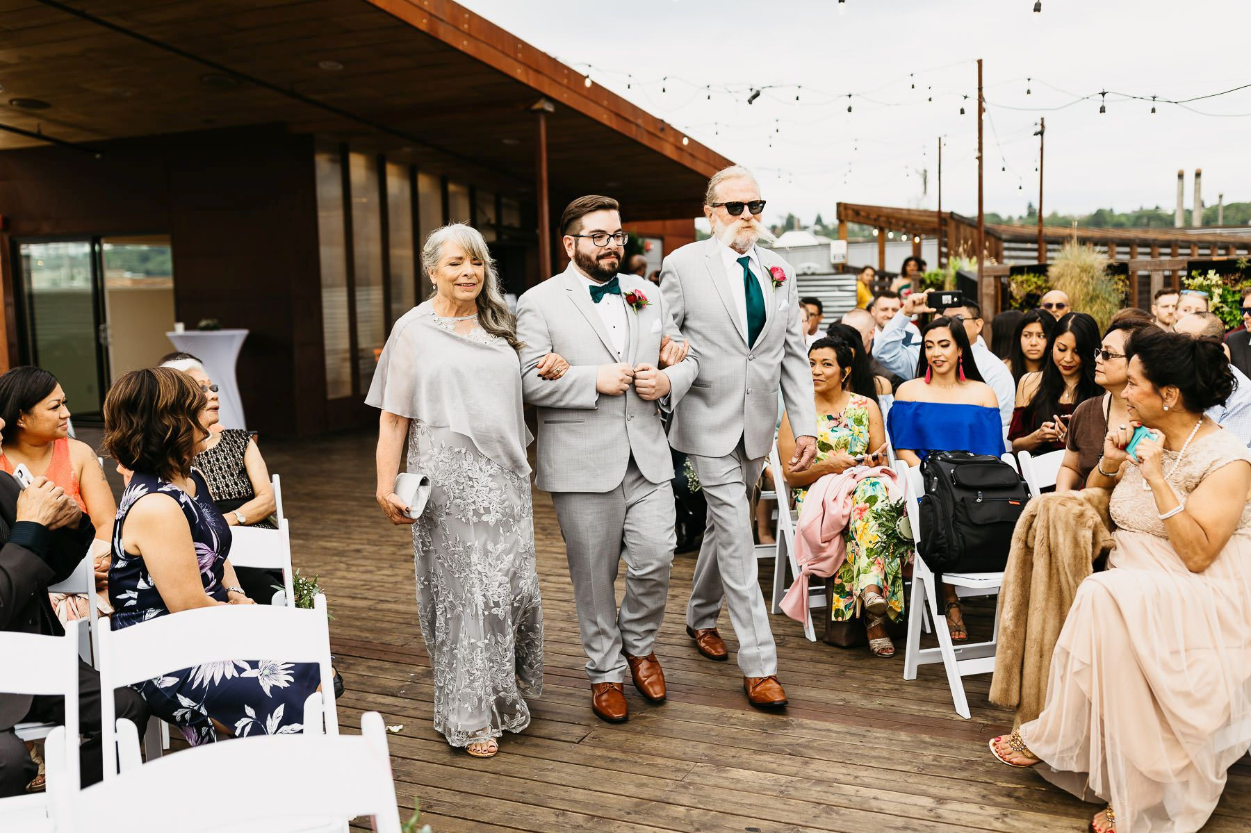 within sodo wedding outdoor ceremony