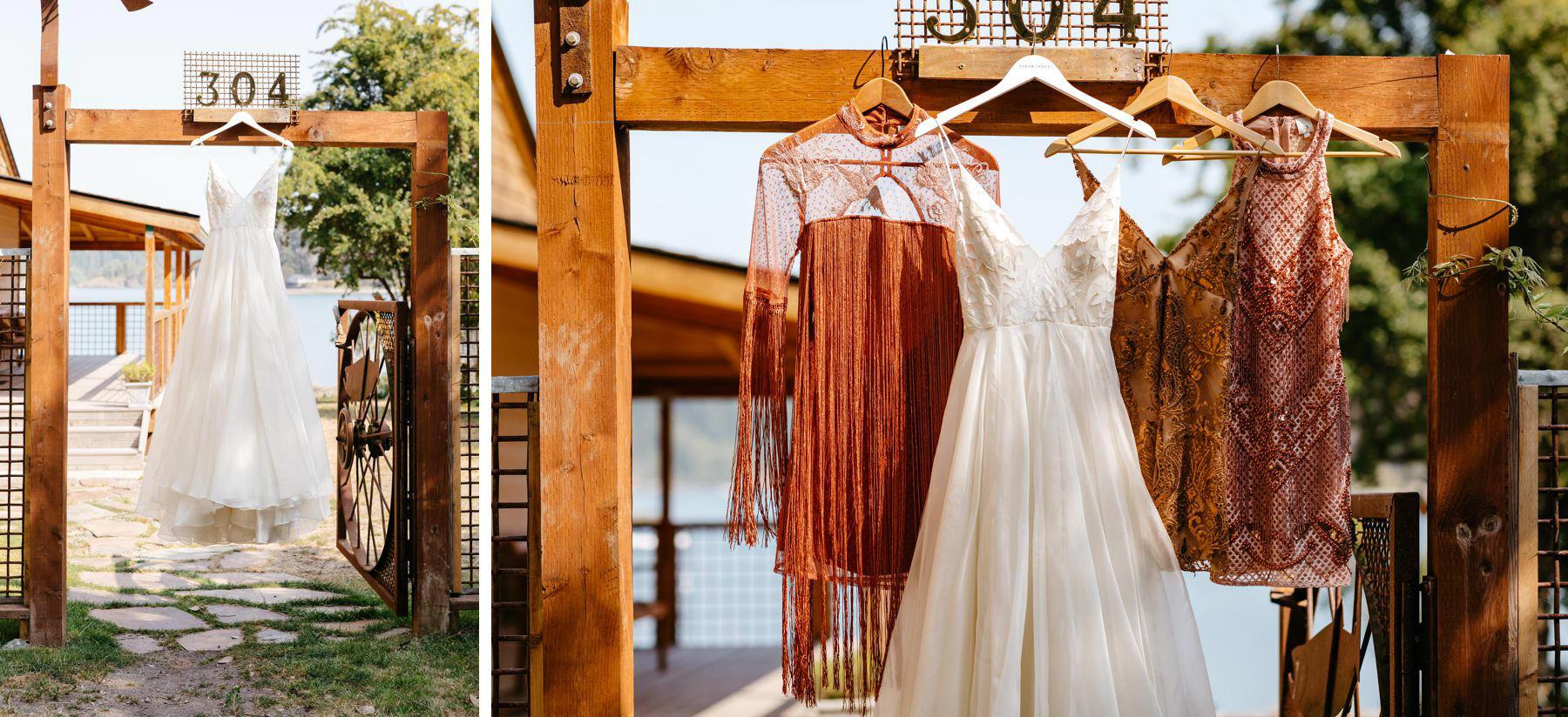 boho pink blush bridesmaids dresses