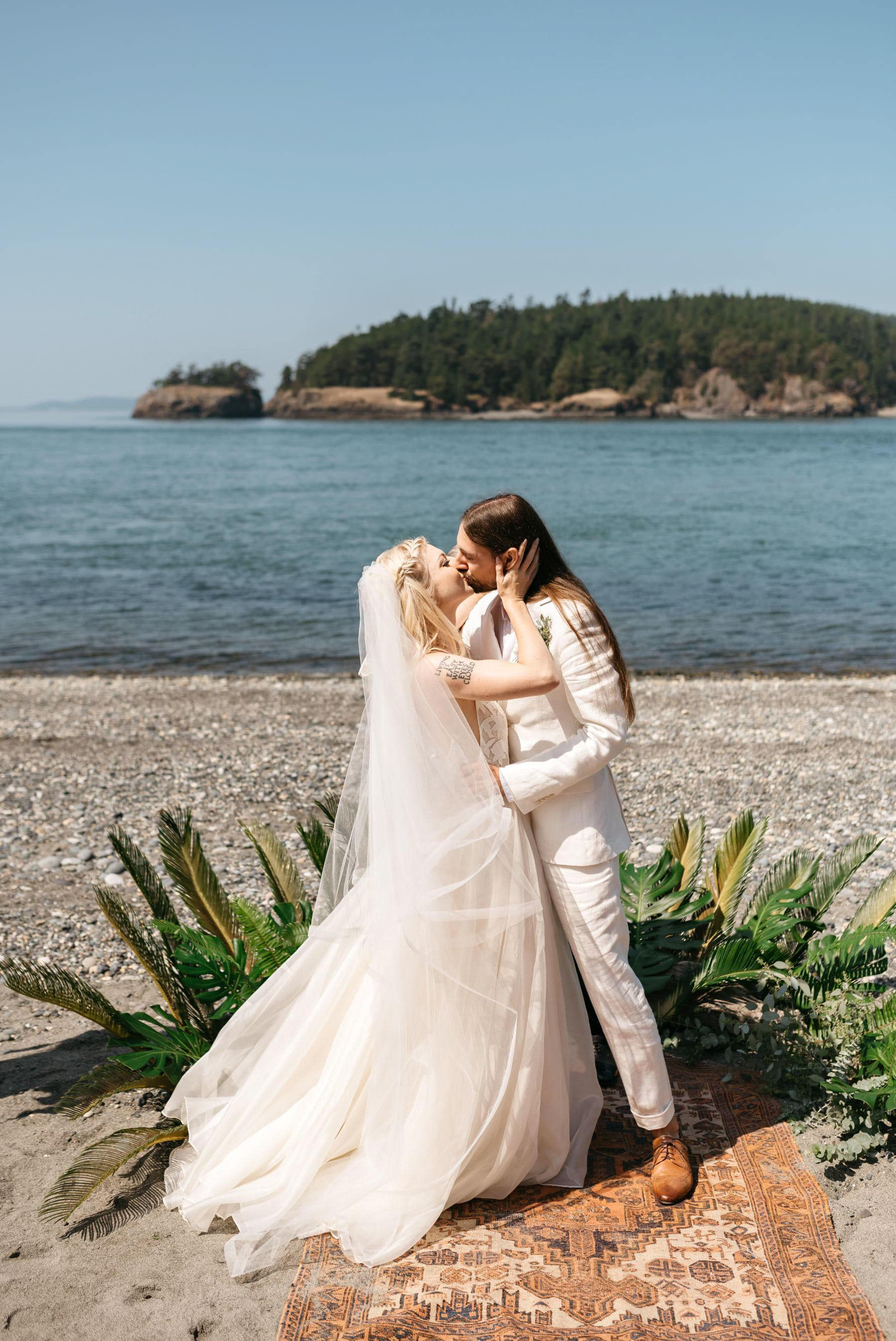 deception pass wedding on beach