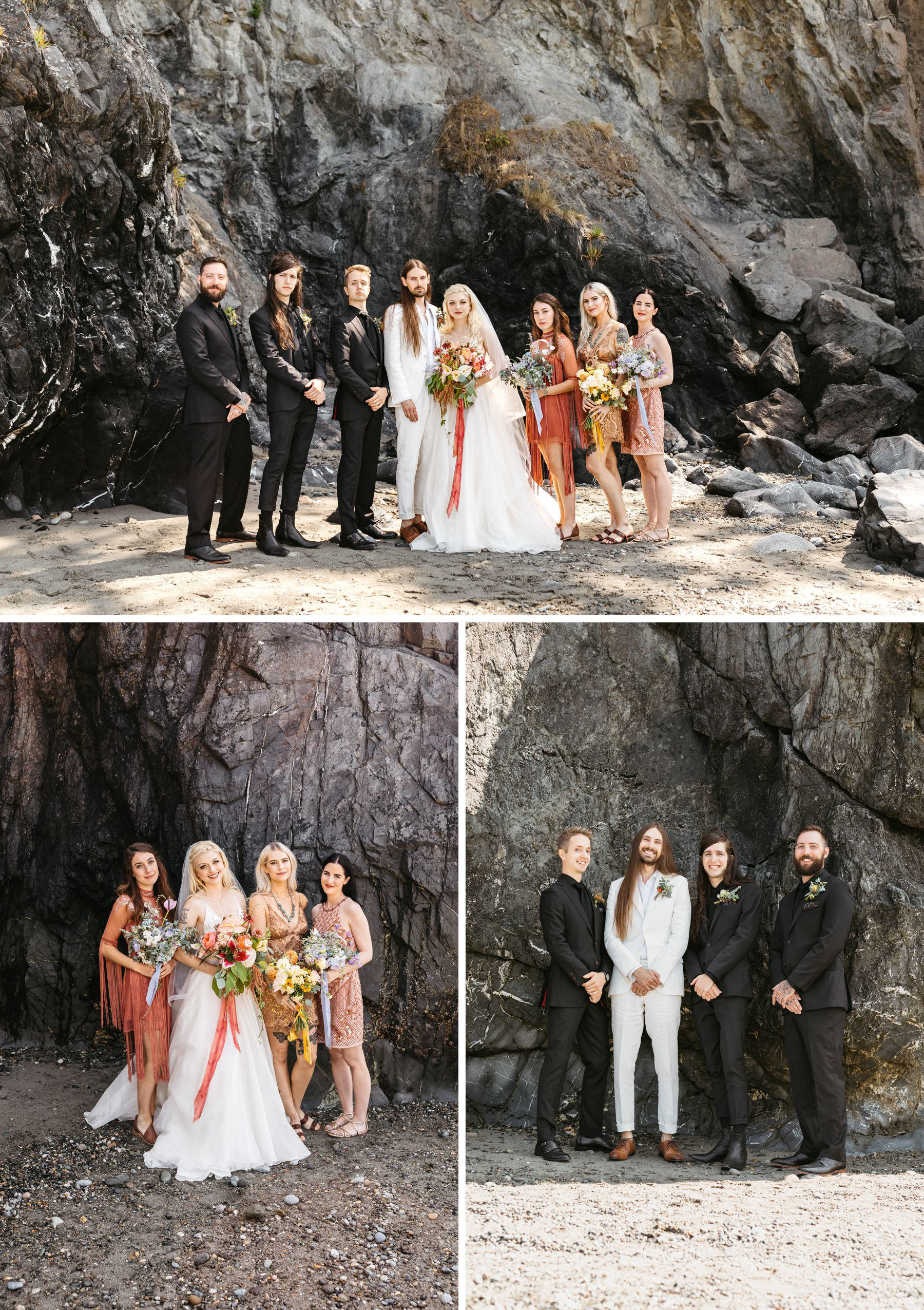 deception pass wedding on beach