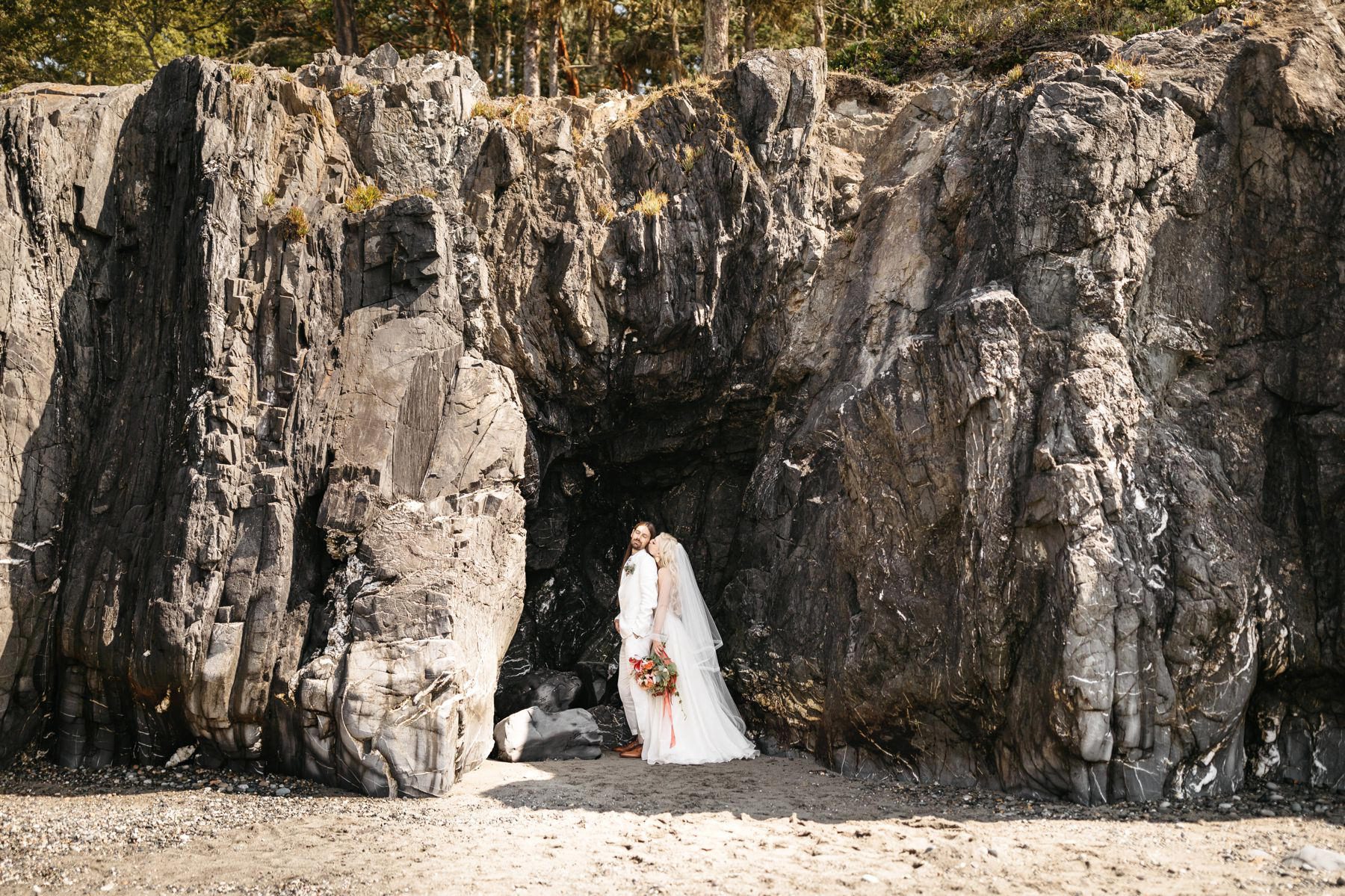 deception pass wedding cave