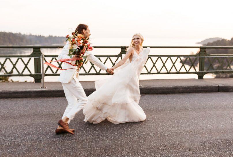 deception pass bridge wedding photo