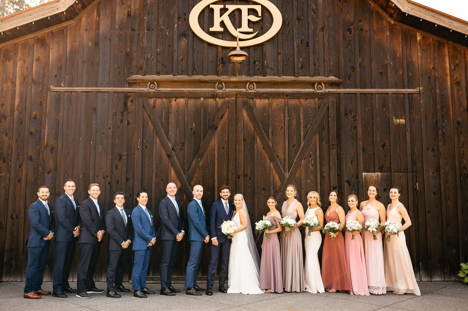 the kelley farm wedding bridal party