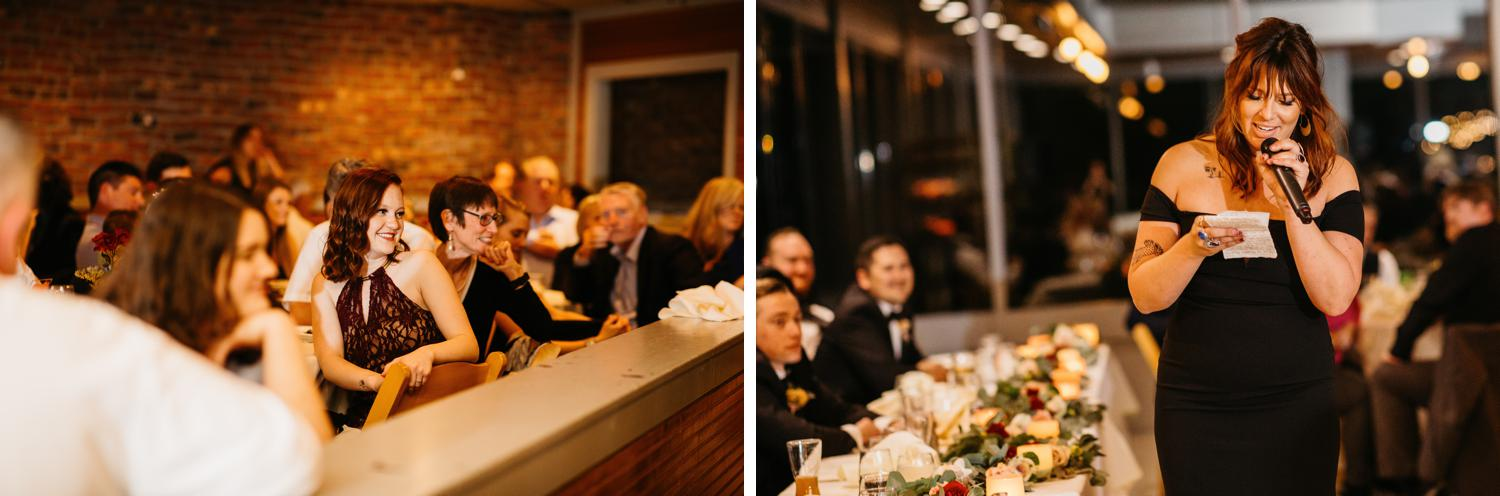 toasts at ballard bay club wedding