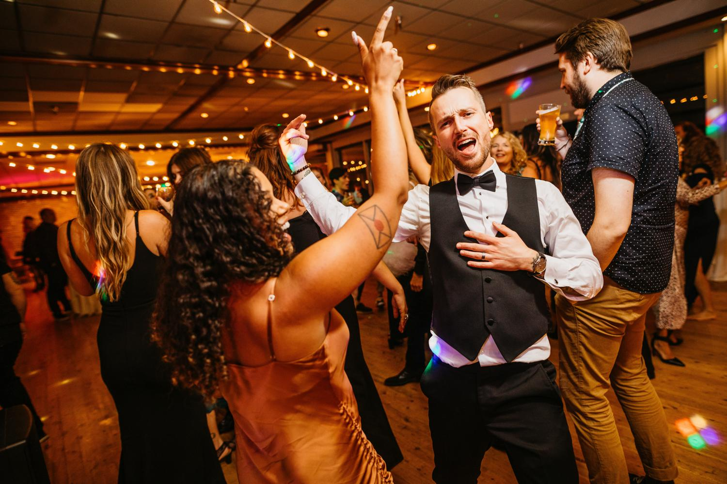 wedding at ballard bay club dance floor