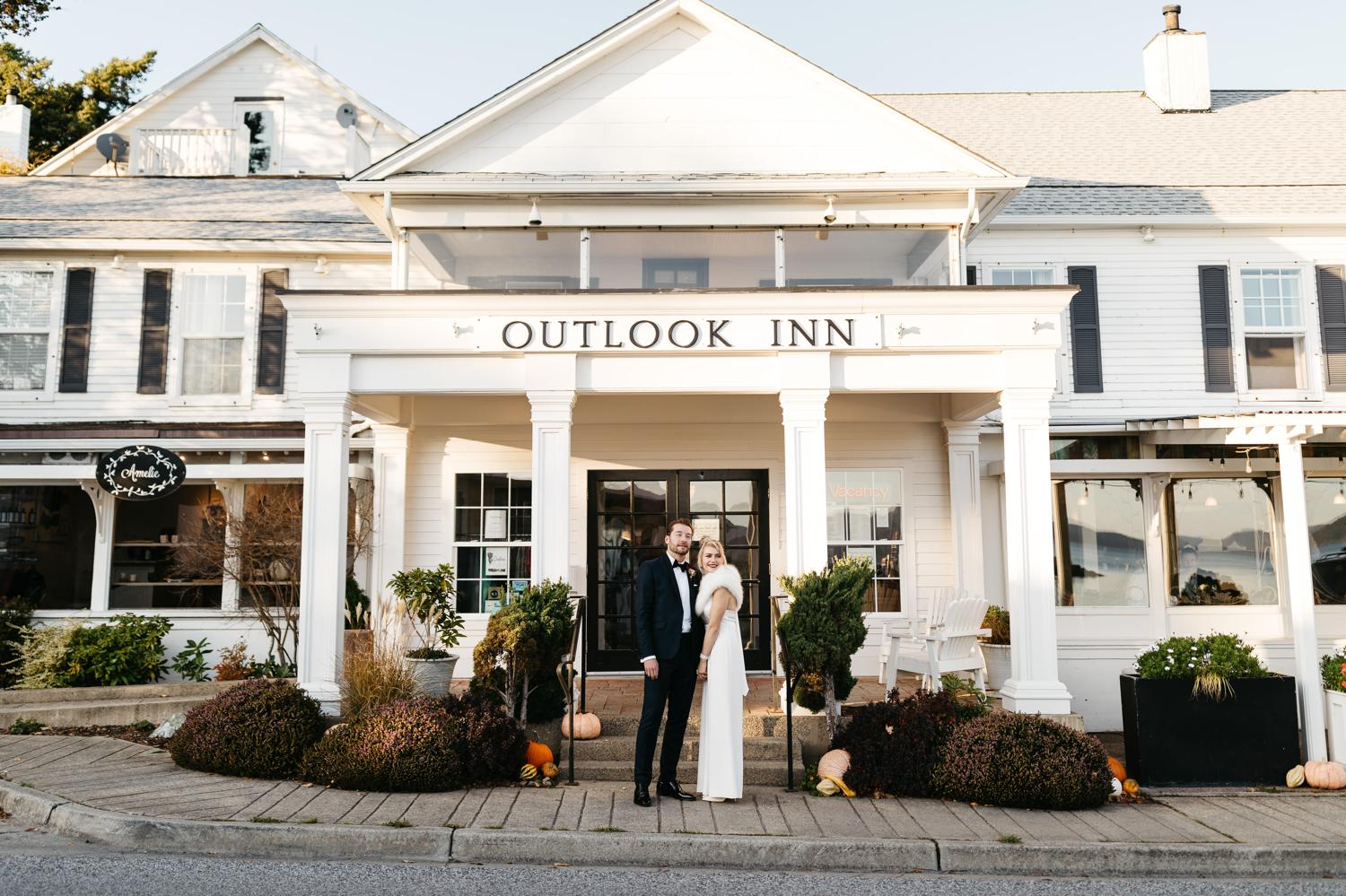 wedding at outlook inn