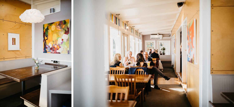 wedding reception at outlook inn new leaf cafe