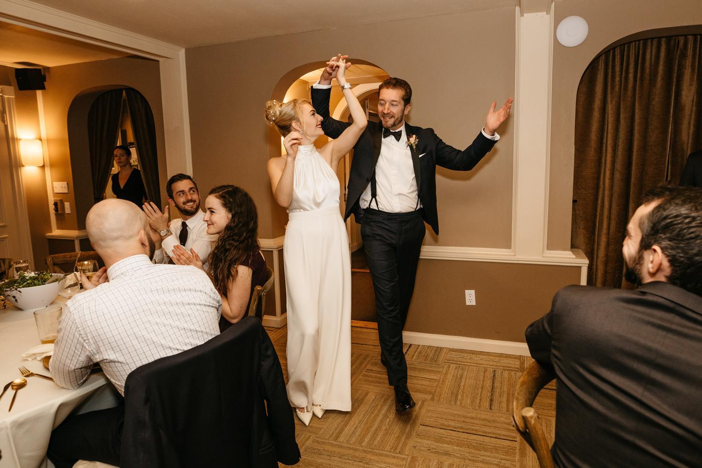 wedding reception at outlook inn victorian room