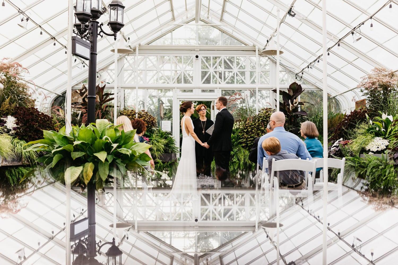 volunteer park conservatory wedding ceremony photo
