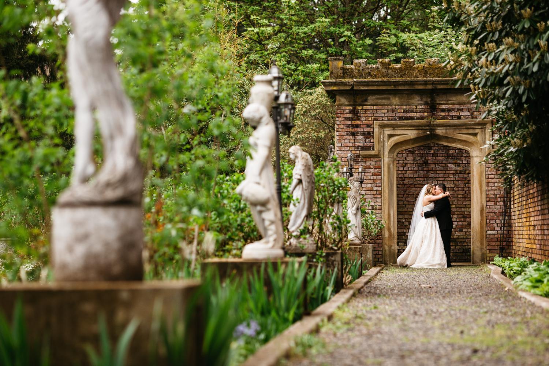 thornewood castle wedding portrait