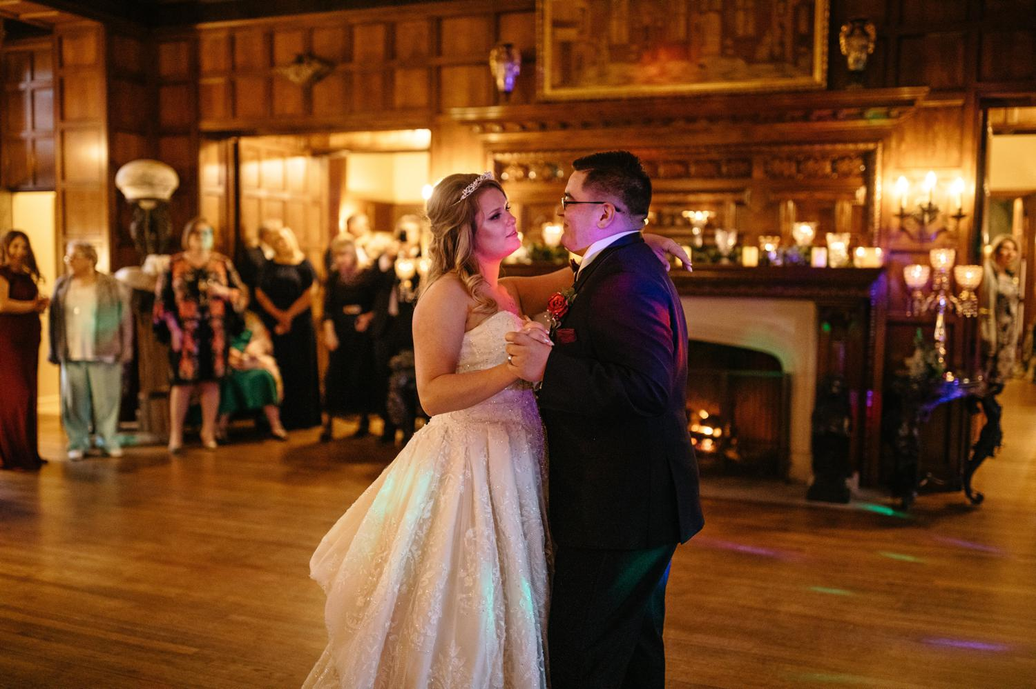 thornewood castle wedding dance floor