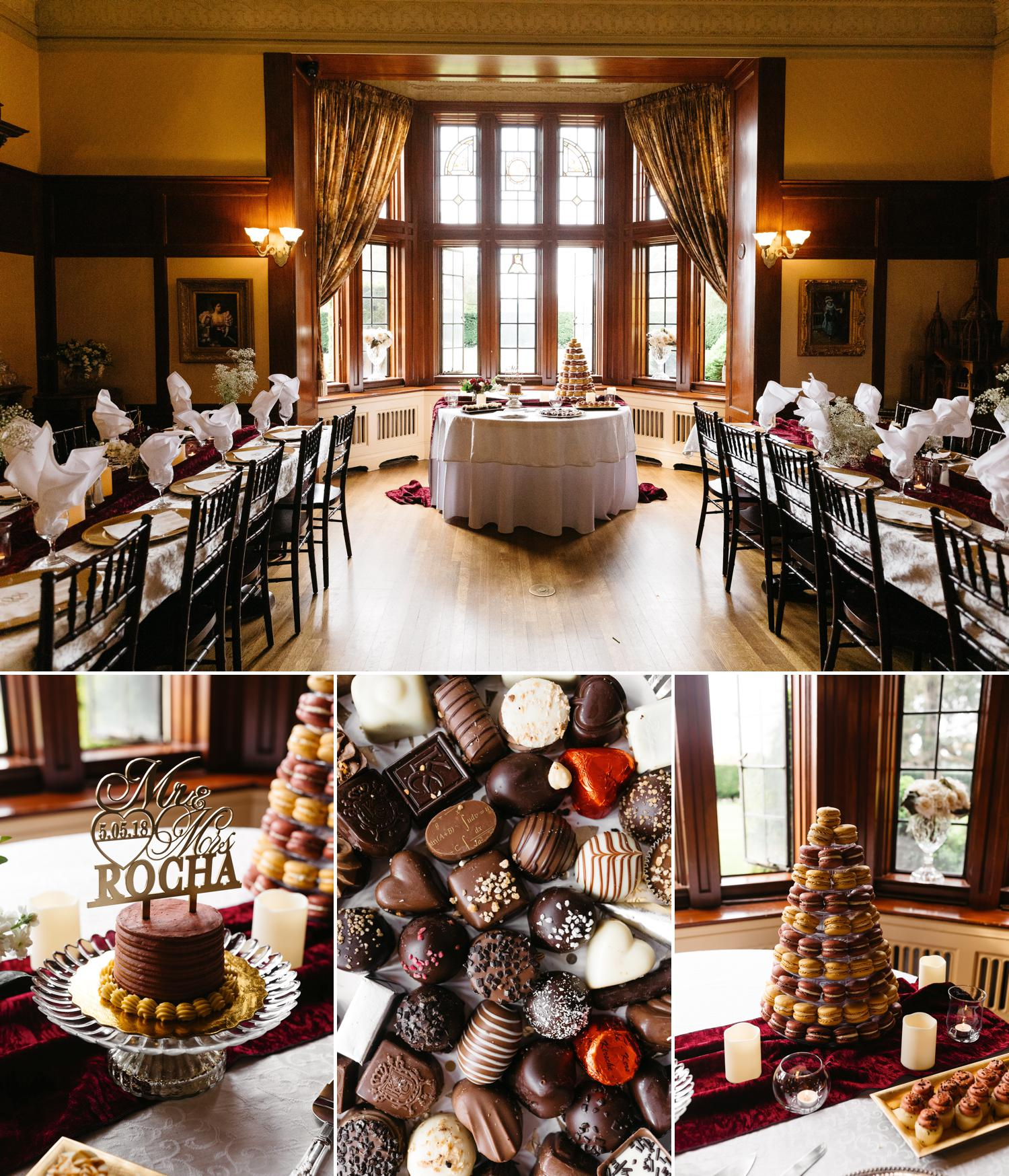 thornewood castle wedding dining hall