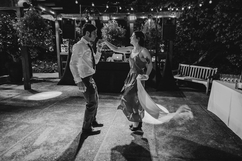 robinswood house wedding dance floor at night