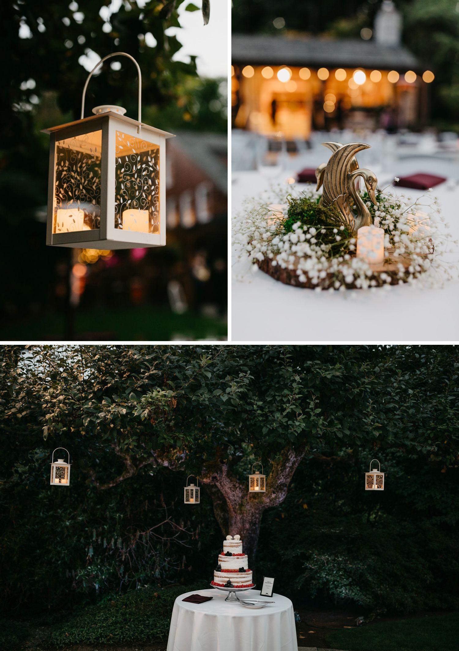 robinswood house wedding reception at night