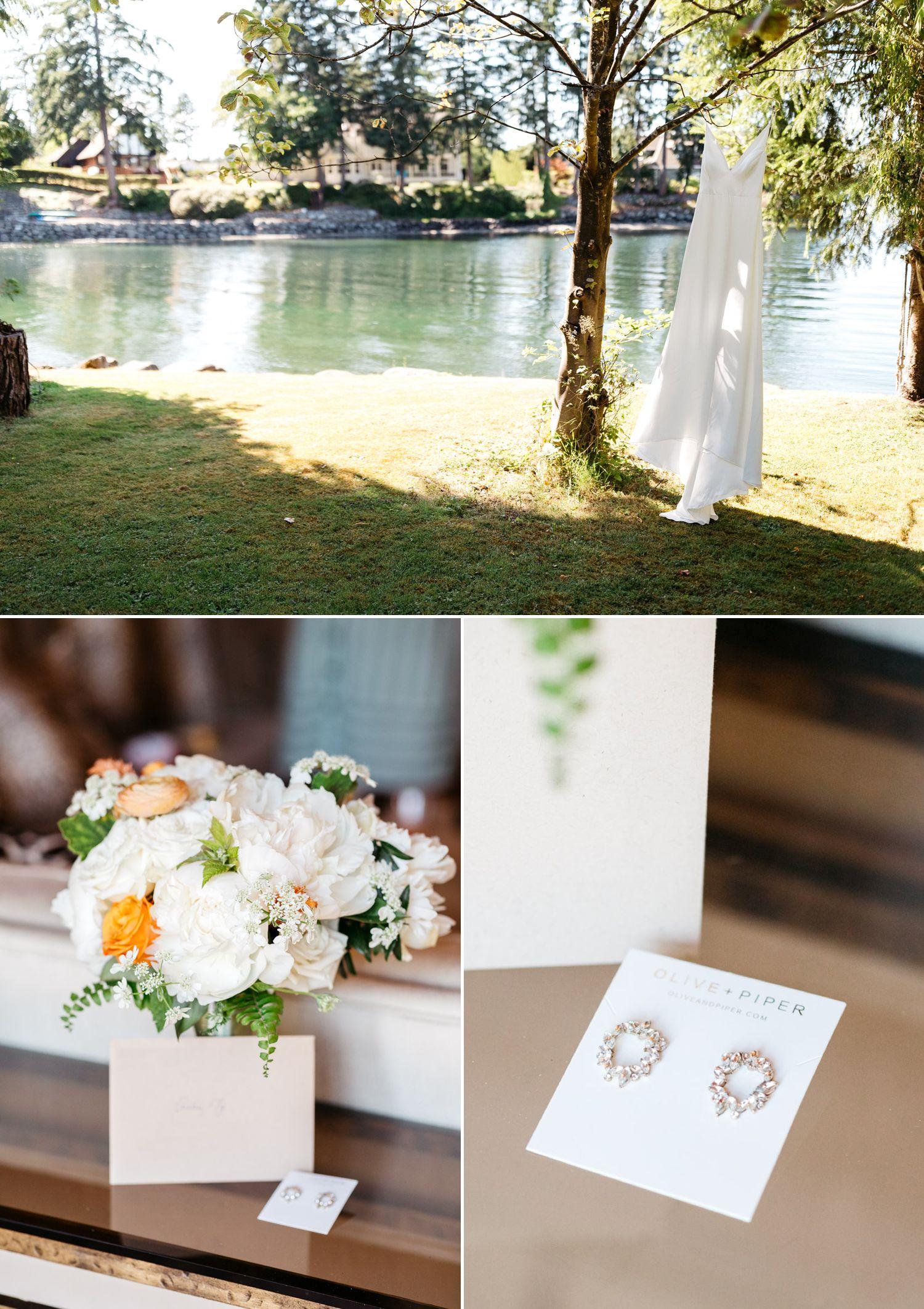bride wedding details on fox island