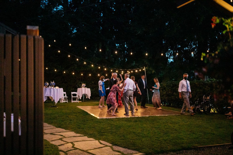 fox island wedding reception
