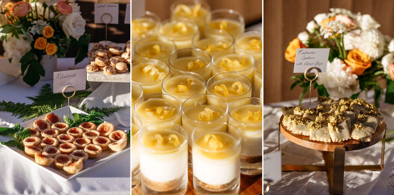fox island wedding dessert buffet