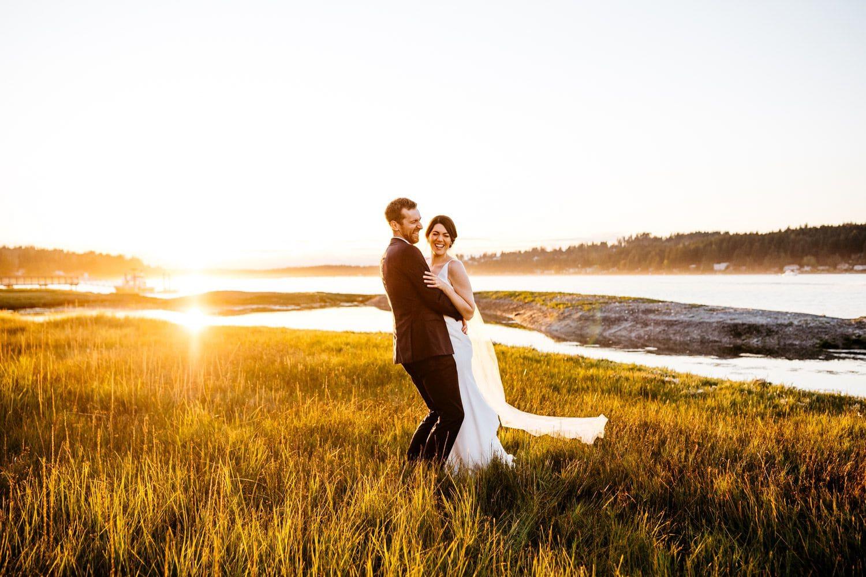 wedding portraits on fox island