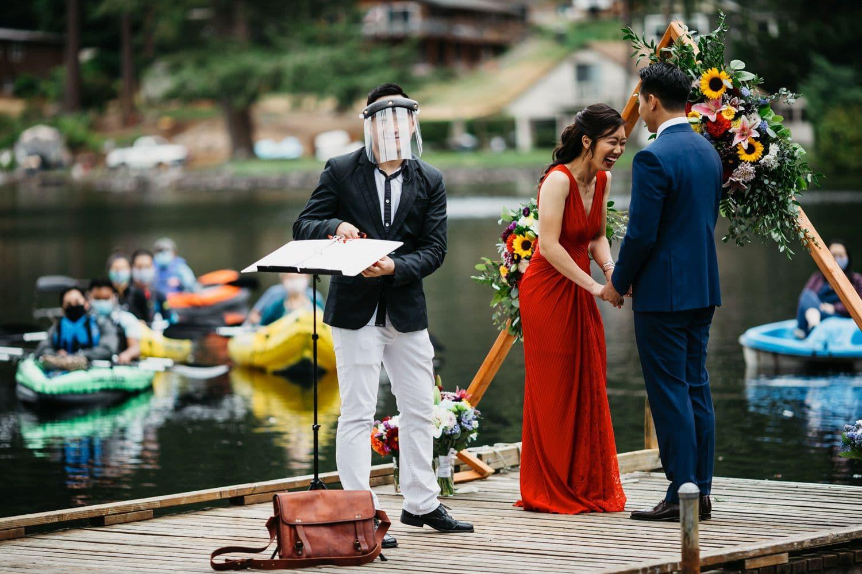 socially distant wedding in washington