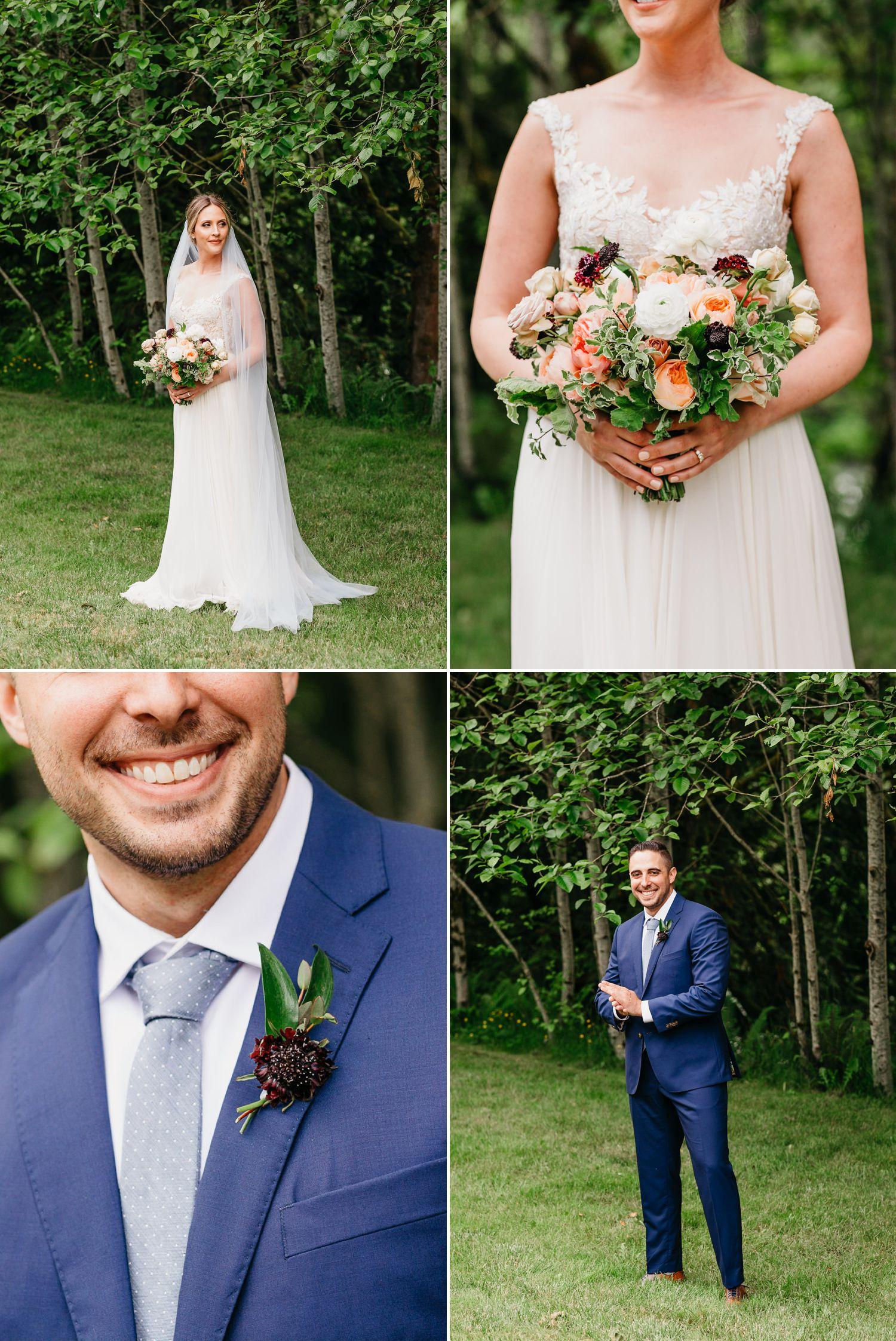snoqualmie falls wedding photo